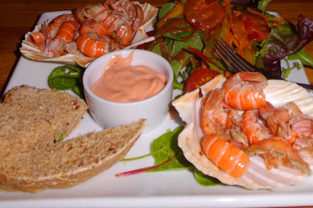 local Scottish seafood
