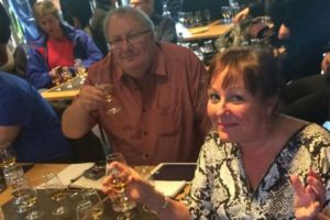 Paul and Liz - whisky tasting