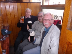 3 amigos having fun in Clarkes bar Drogheda Ireland