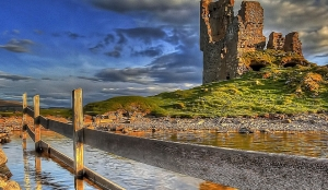 Ardveck castle on the west coast of Scotland a glorious ruin