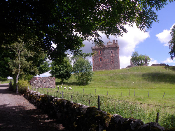 Balvaird castle near Perth in Scotland