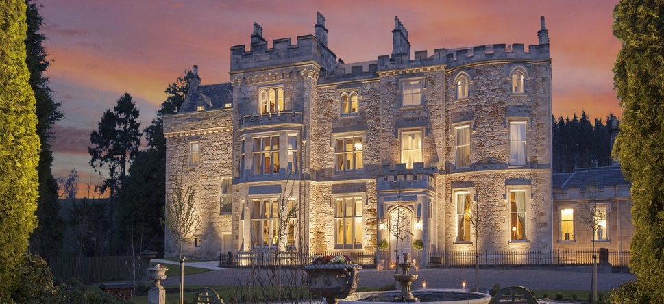 Crossbasket Castle one of the luxury castles mcleanscotland use