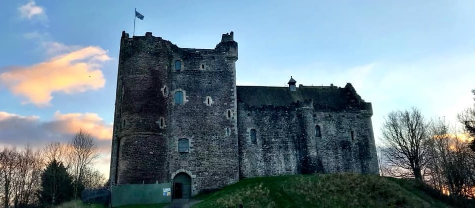 Doune castle Scotland features in Outlander tv series