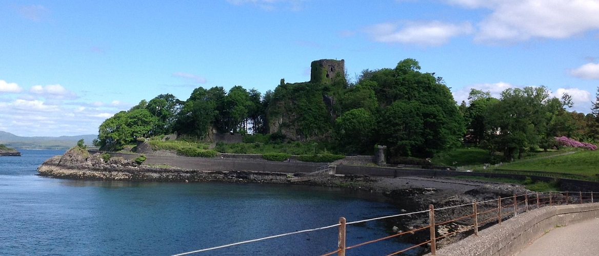 Dunollie castle in Oban on Scotland's west coast