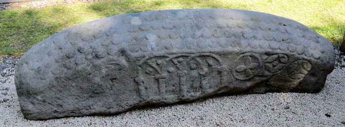 Hogback Viking stone found near Loch Lomond