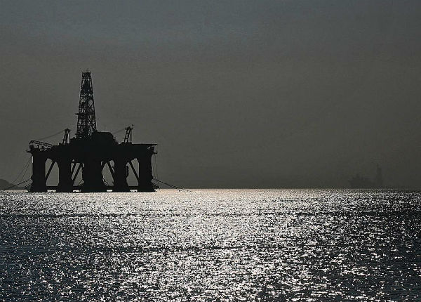 Invergordon oil and gas rigs in the Firth