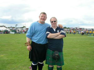 Inverness highland games, Paul and his Norwegian friend