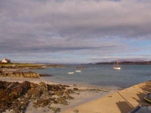 Fionophort beach on the Isle of Mull awaiting the Iona ferry