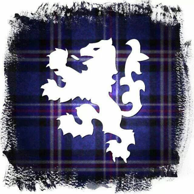 Scottish tartan with the Rampant Lion of Scotland
