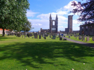 St Andrews in Scotland a superb ruined cathedral in Fife