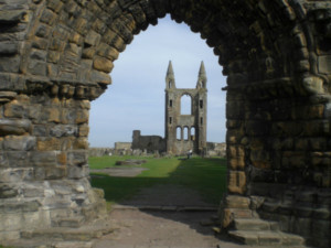 St Andrews ruined Cathedral oldest in Scotland