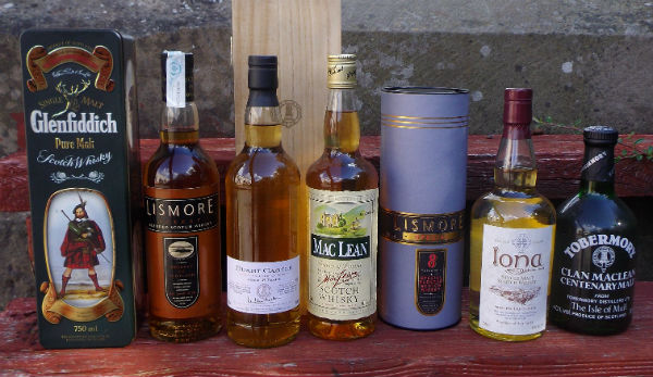 a selection of collectable whisky from mcleanscotland