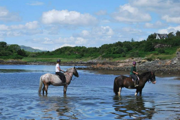 horse riding on the west coast of Scotland