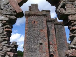 inside the ruined Balvaird castle near Perth Scotland