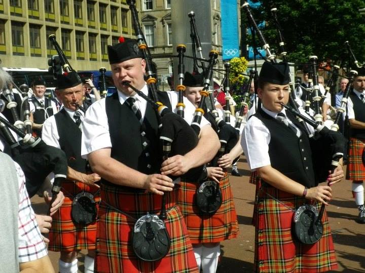 piping at the Worlds in Glasgow