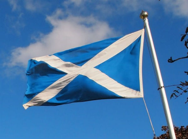 St Andrews and The Saltire Flag