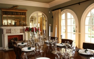 the dining room of Melfort House