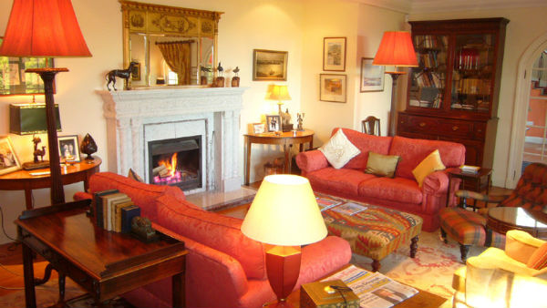the lounge at Melfort House