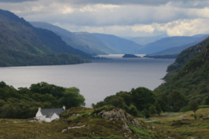 the stunning Loch Broom in the Scottish highlands on the 500 route
