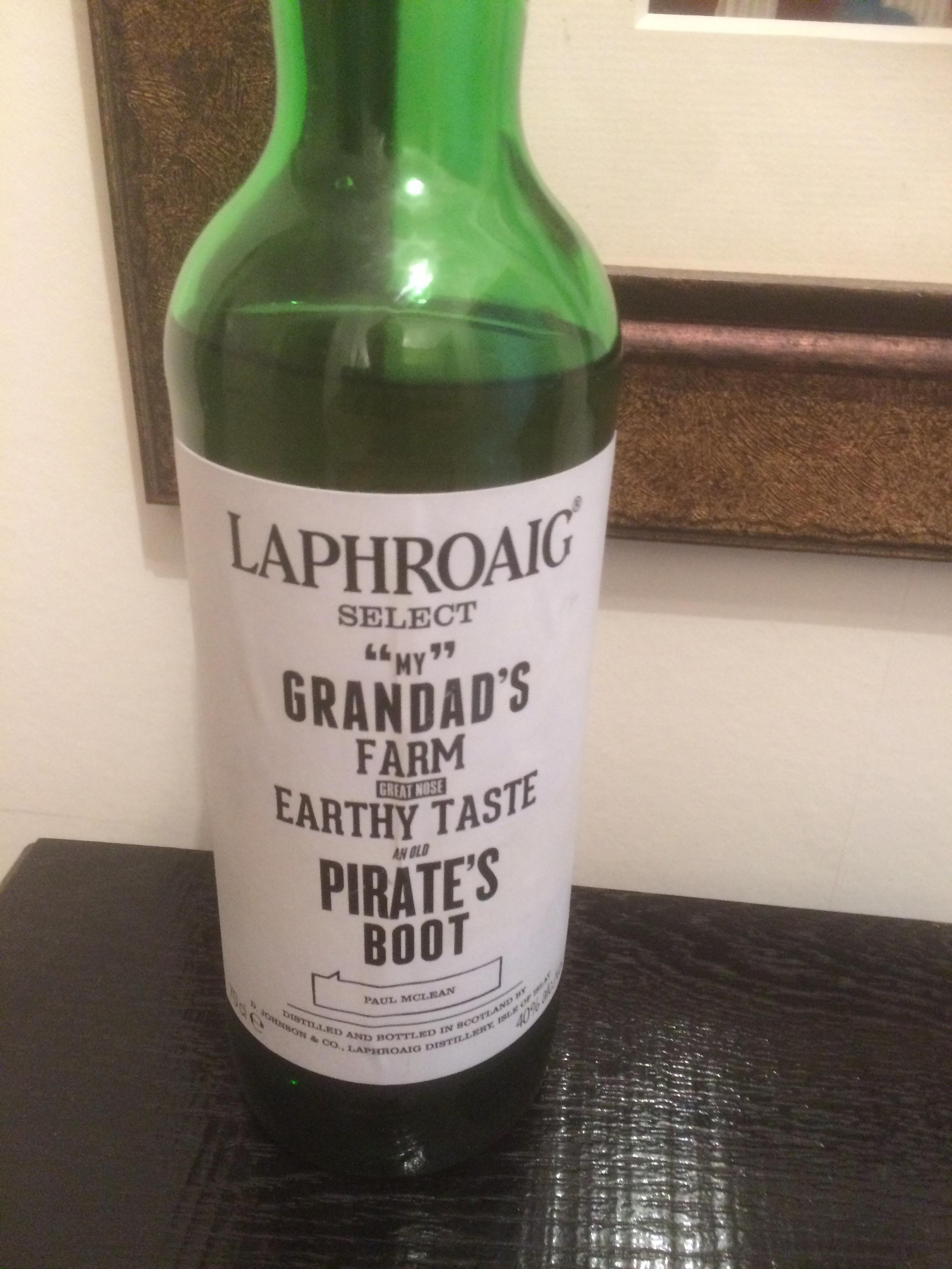Bottle of Laphroig