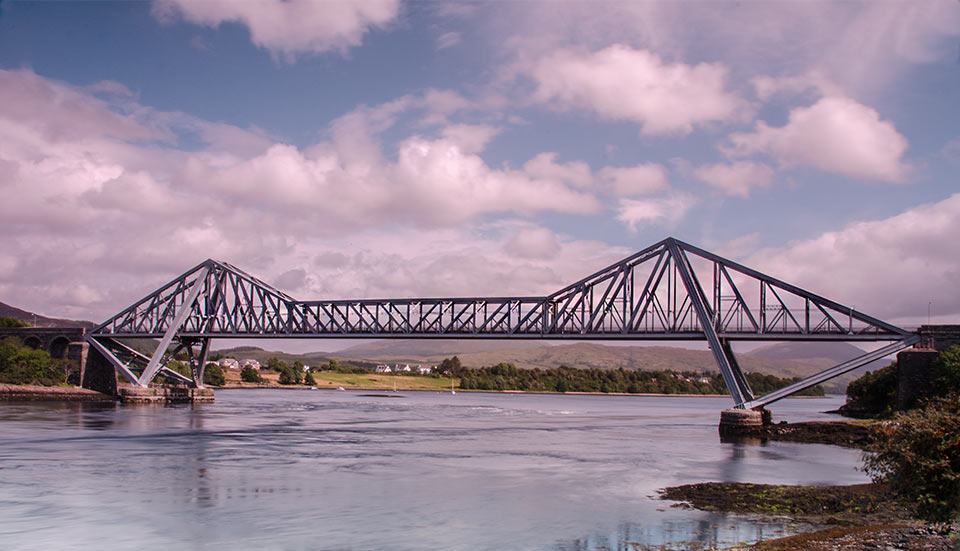 Connel Bridge at Connel, Scotlnads west coast and paul