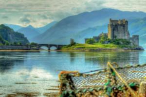 Eilean Donan castle in Scotlands west coast near Skye