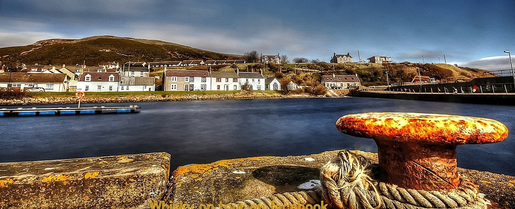Helmsdale harbour on the North 500 route