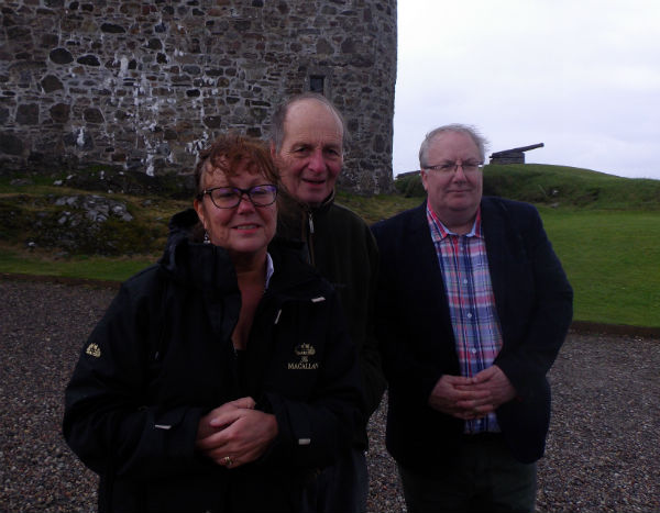 Liz Lachlan and Paul at Duart Castle Isle of Mull