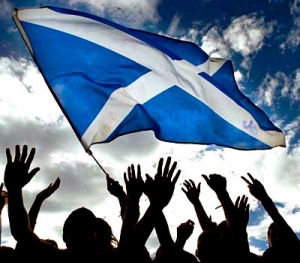 Scotlands Saltire flag of the people