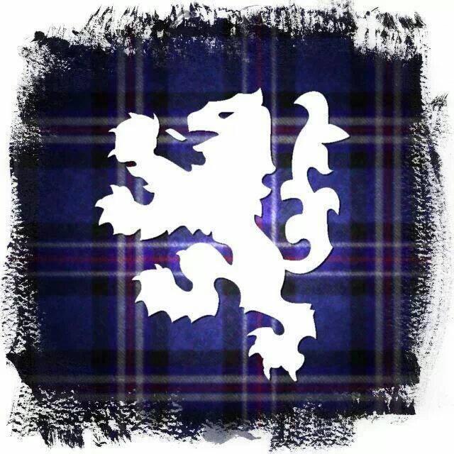 Scottish tartan with the Rampant Lion of Scotland