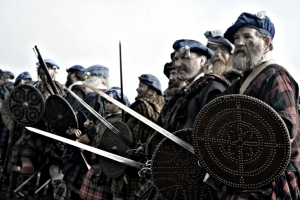 Typical of the highlanders broadswords