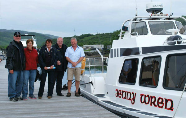 All aboard the Jenny Wren for a day trip