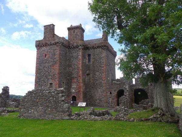 located in Scotland near Perth Balvaird castle ruin