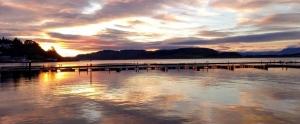 oban bay at sunset scotlands west coast