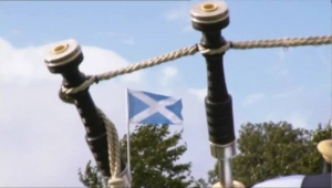 saltire and bagpipes
