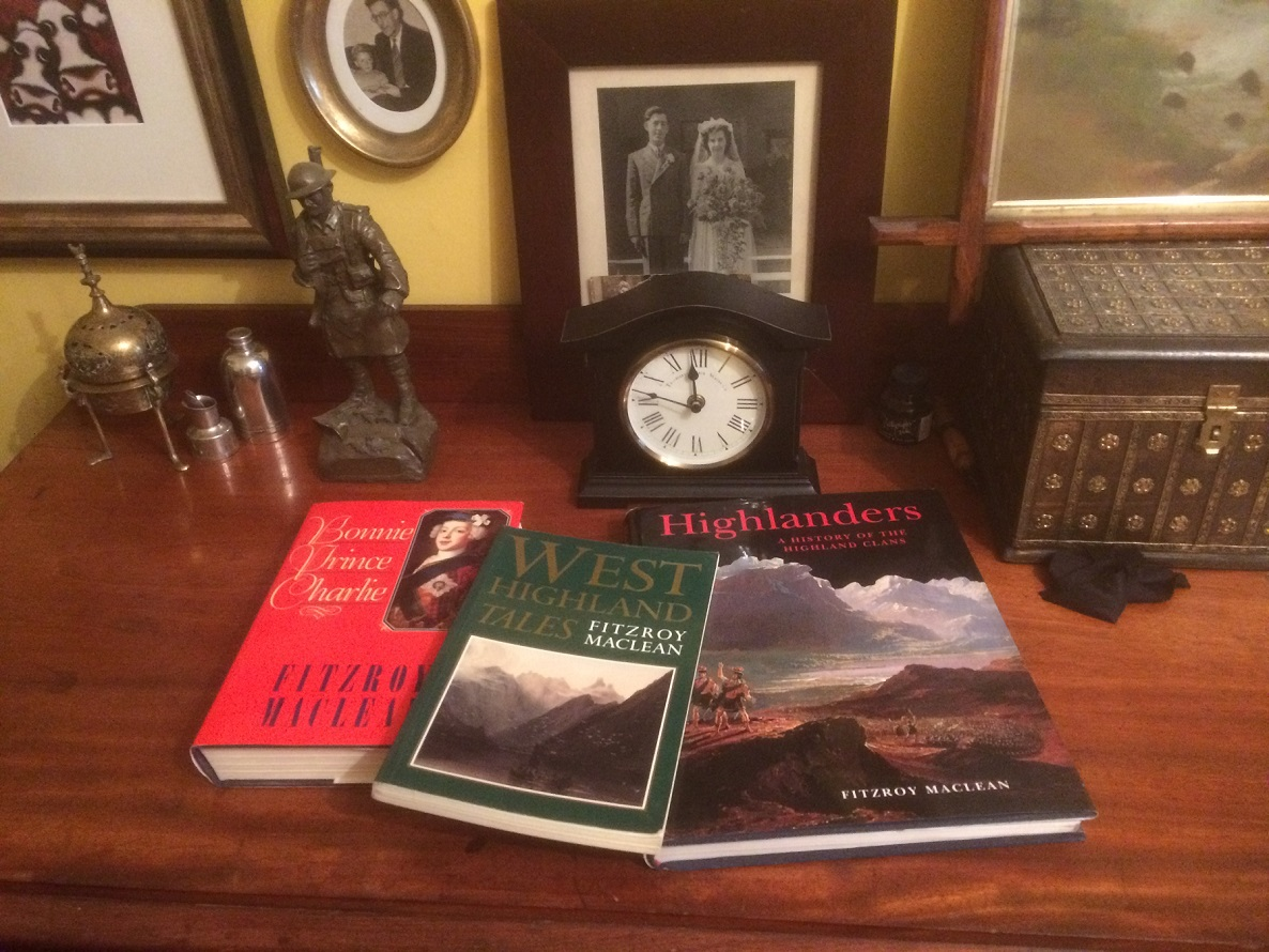some of Paul's collection of Fitzroy maclean books