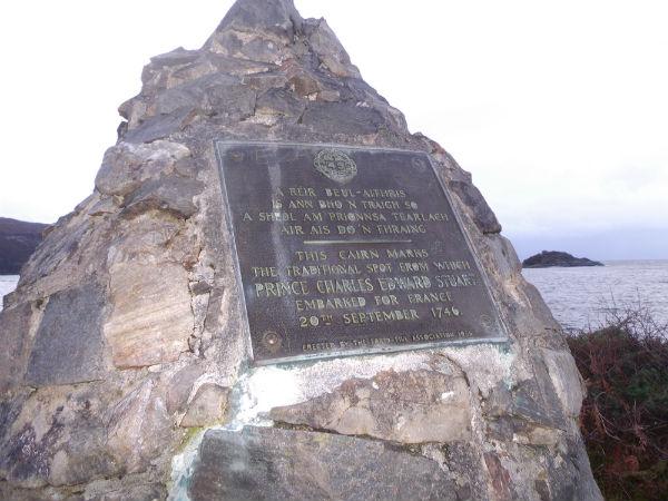 the Princes cairn Scotlands west coast near Arisaig