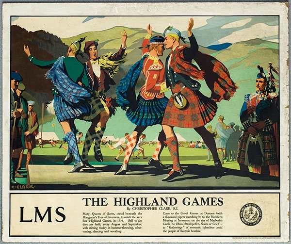 the highland fling as shown in old railway poster